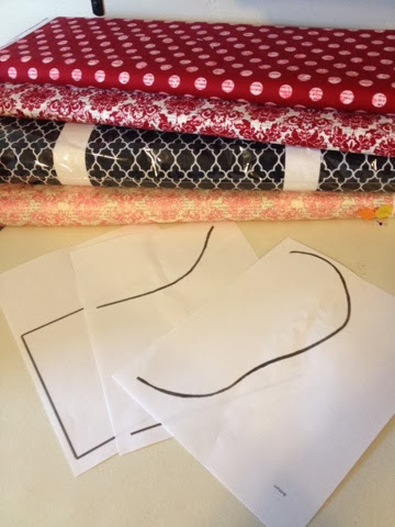 lost and found riley blake designs christmas stocking fabric choices