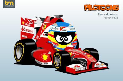Фернандо Алонсо Ferrari F138 pilotoons 2013