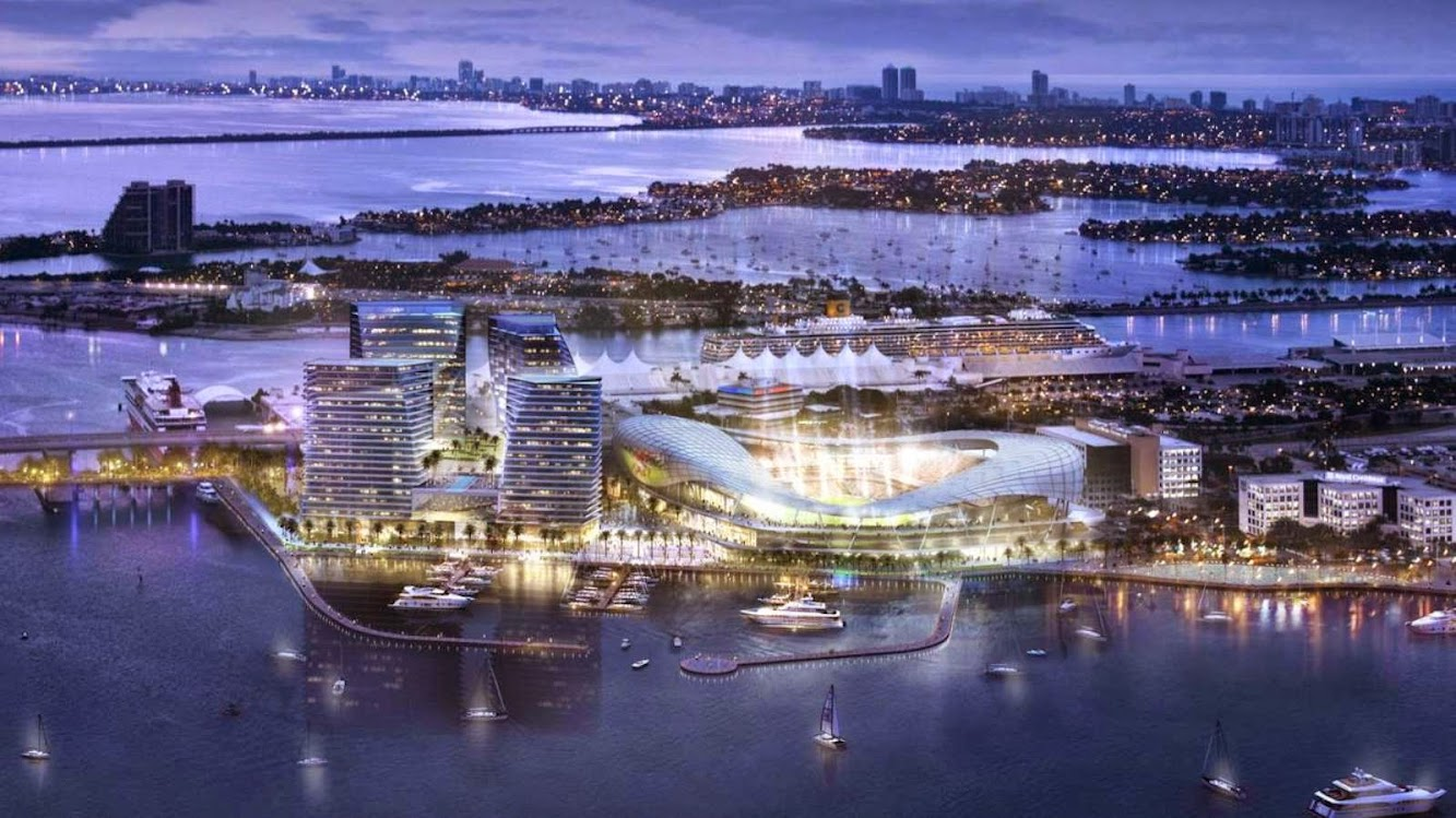 Miami, Florida, Stati Uniti: Stadium Port Miami by Arquitectonica Sponsored by David Beckham