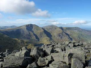 Tryfan Summit looking to the Glyders
