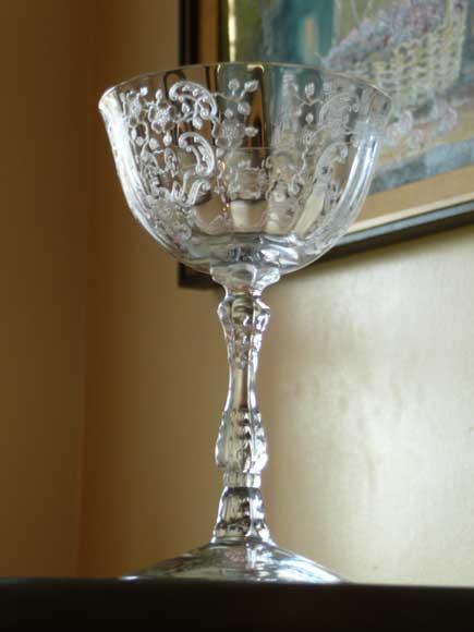 Fostoria Meadow Rose glass