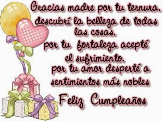 Feliz cumpleaños mama ~ Frases de cumpleaños