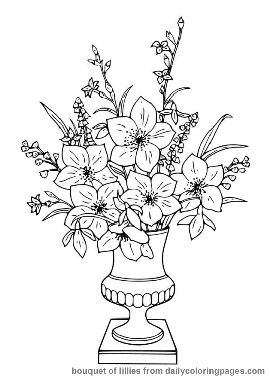 Free Printable Adult Coloring Pages – Flowers Lena Gott - free flower coloring pages for adults