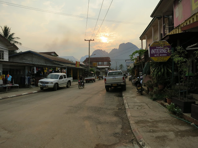 Vang Vieng - full of backpackers behaving badly.