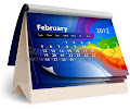 Abstract rainbow 2012 calender template