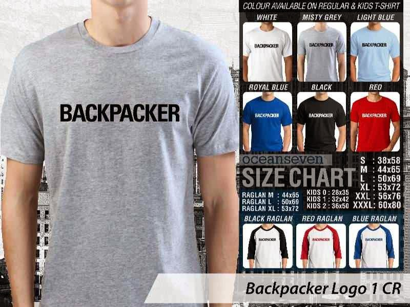 Kaos Magz Backpacker Logo 1 Majalah & Media distro ocean seven