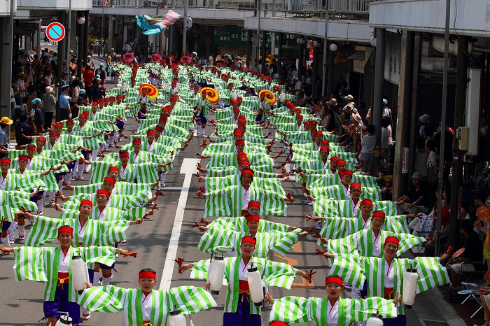 第59回よさこい祭り☆本祭1日目・愛宕競演場105☆上1目1267