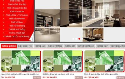 thiết kế nhà phố blogger templates