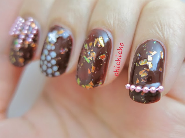 Born Pretty Store Beads Chain Review (Christmas Tree Nail Art)