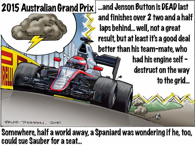 комикс Bruce Thomson по Гран-при Австралии 2015