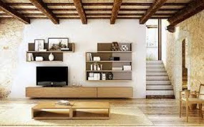 mueble de salón roble carre