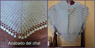 CHAL A CROCHET TELA DE ARAÑA PASO A PASO