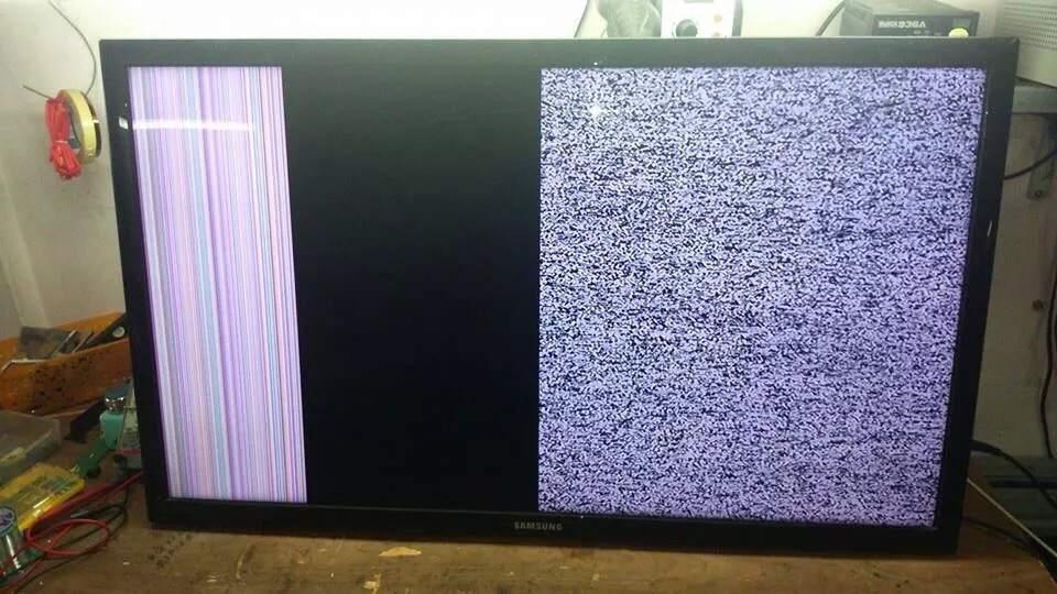 Lỗi tivi bị sọc ngang dọc màn hình