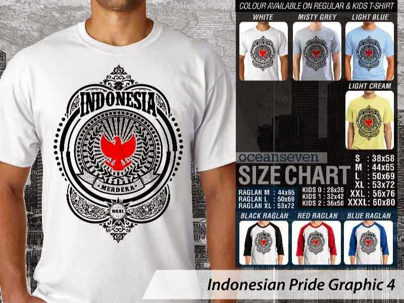 KAOS Indonesia Merdeka Indonesian Pride Graphic 4 distro ocean seven