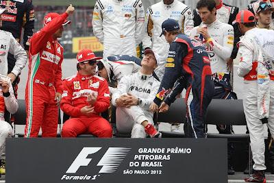 общая фотография по окончанию сезона на Гран-при Бразилии 2012