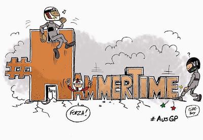 #HammerTime - комикс Cirebox по Гран-при Австралии 2015