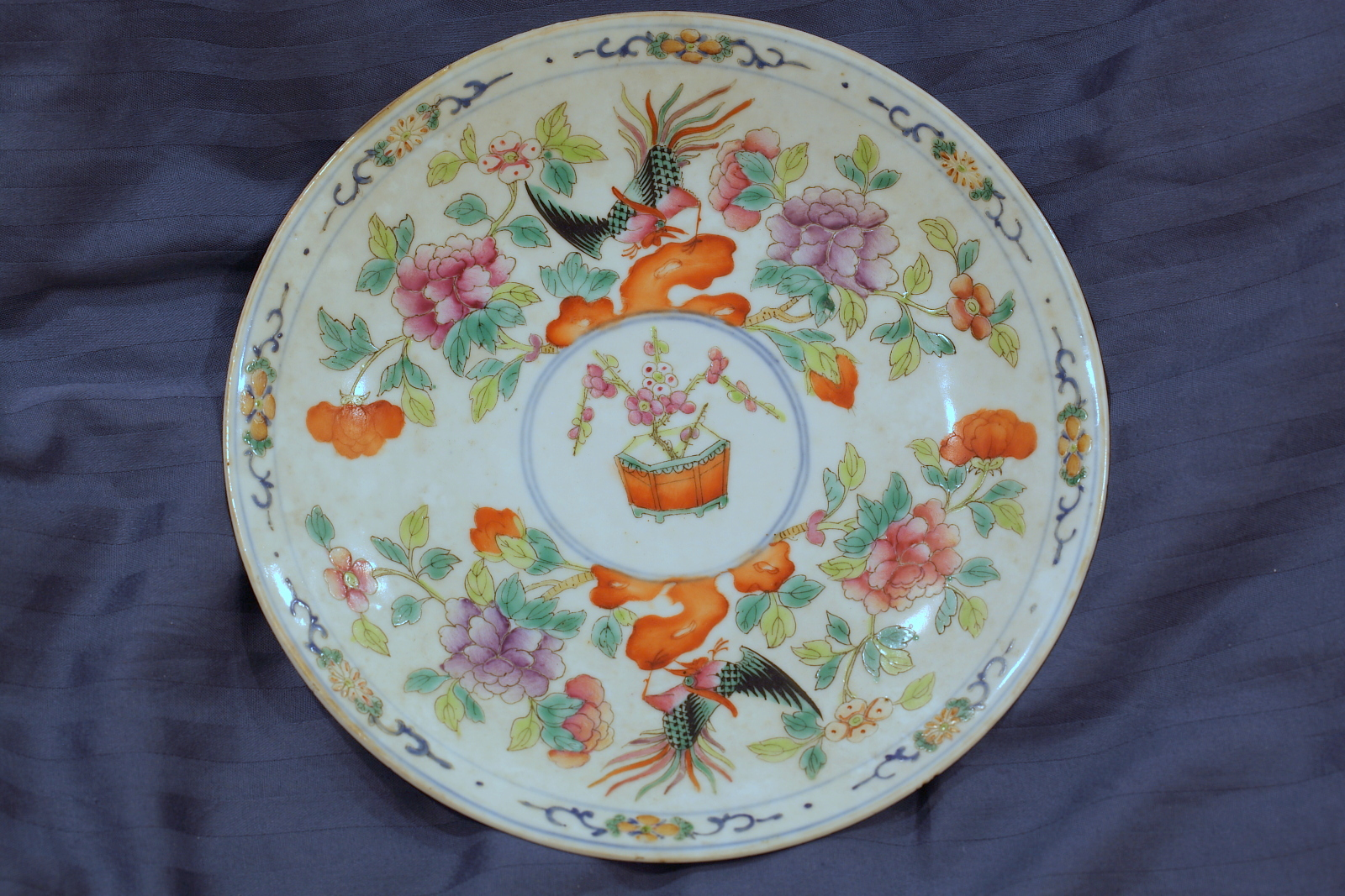 Dinner plate 1. Diameter  22cm. & enticz: Colourful Straits Chinese Porcelains (3)