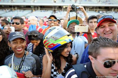 болельщики Остина на Гран-при США 2014