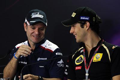 Рубенс Баррикелло и Бруно Сенна на пресс-конференции в четверг на Гран-при Бразилии 2011