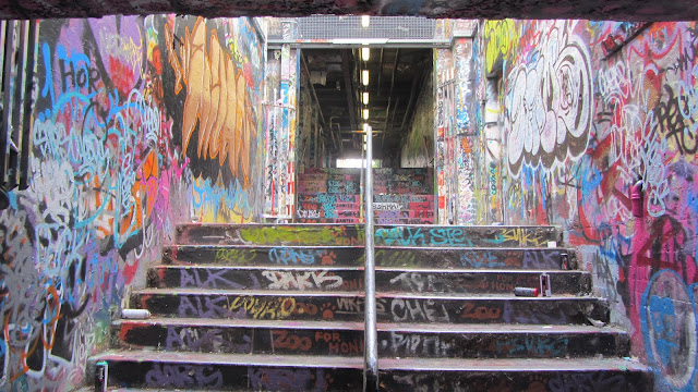 Graffiti Tunnel at the University of Sydney.