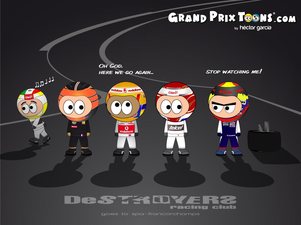 Клуб разрушителей приезжает в Спа-Франкоршам - комикс Grand Prix Toons Гран-при Бельгии 2012