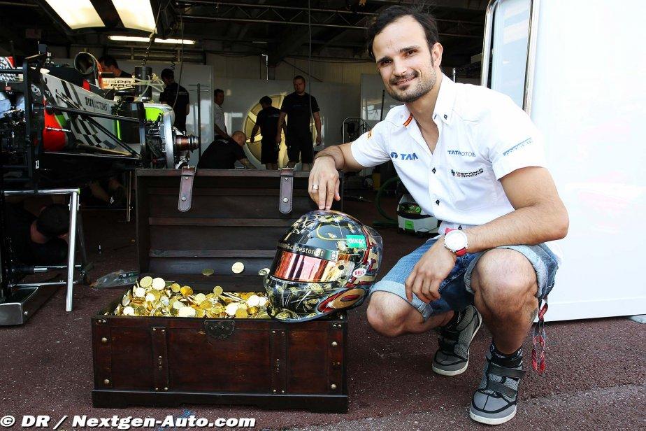 Витантонио Льюцци представляет прессе шлем приготовленный специально для Гран-при Монако 2011