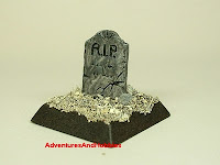 Tombstone marker Fantasy war game terrain and scenery