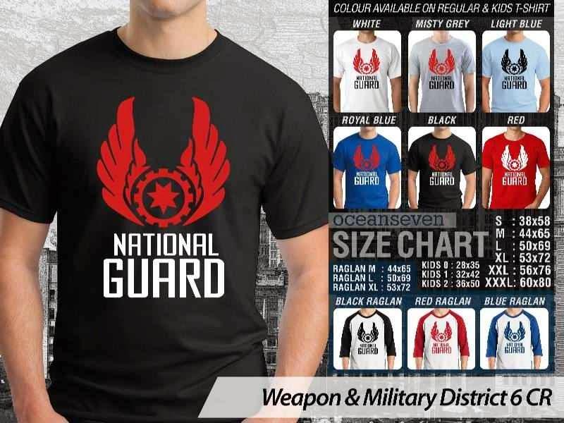 KAOS Militer National Guard Weapon & Military District 6 distro ocean seven