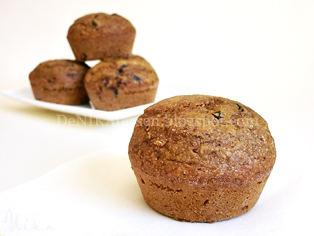 muffins integrales bajos en grasa