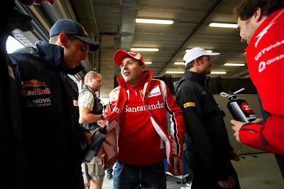 Себастьян Буэми и Фелипе Масса на Гран-при Бельгии 2011