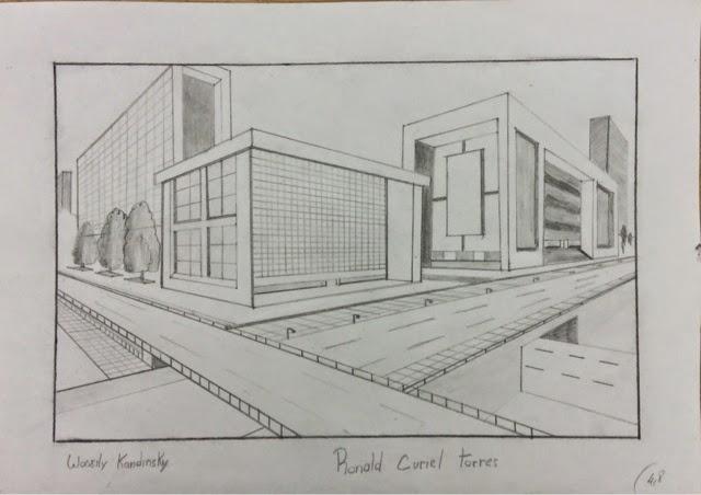 Trabajo perspectiva taller de expresi n arquitectura for Exterior a un punto de fuga