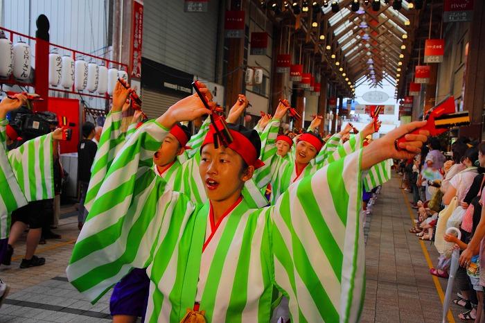 第59回よさこい祭り☆本祭2日目・はりまや橋競演場14☆上2目0020