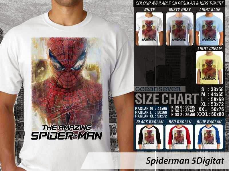 KAOS Spiderman 5 Amazing Superhero distro ocean seven