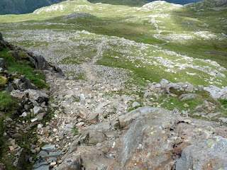 Looking down the path up to Glaramara