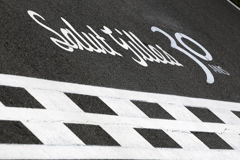 Salut Gilles 30 ans на старт-финишной черте в честь Жиля Вильнева на Гран-при Канады 2012