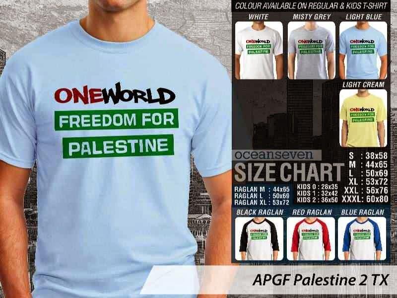 Kaos Muslim Islam Palestine 2 distro ocean seven
