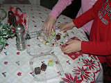 Ok, we ate all the cookies. Good thing we had some petit fours for Santa.