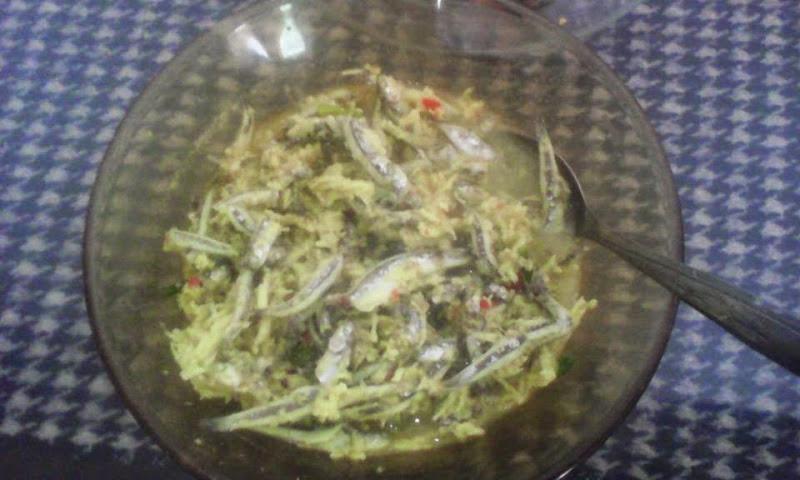 ikan teri urap kelapa panggalo salabose