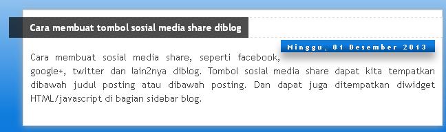 Cara merubah tampilan dan posisi tanggal blog