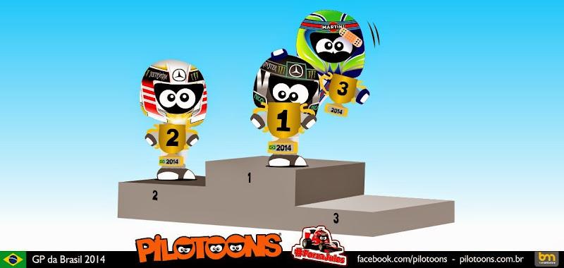 комикс pilotoons по Гран-при Бразилии 2014