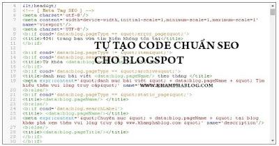 tự tạo code blogspot chuẩn seo