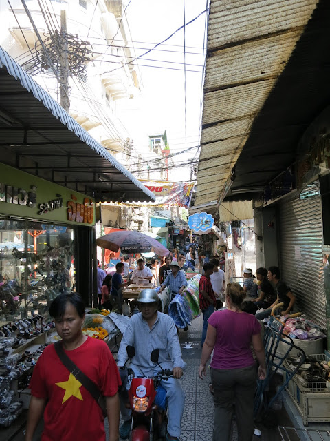 Walking through the narrow lanes of Bangkok's Chinatown.