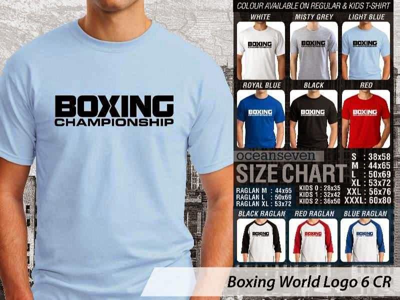 Kaos Olah Raga Sport Boxing World Logo 6 distro ocean seven