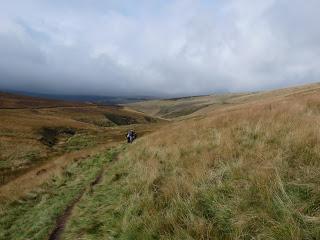 Descending along Wildmoorstone