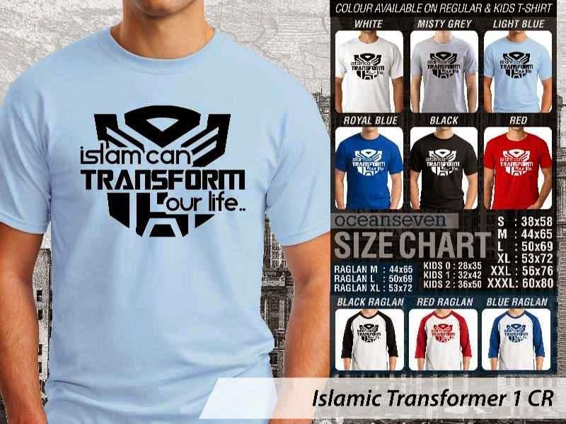 Kaos Islami Transformer 1 Islam can Transform Our Life distro ocean seven