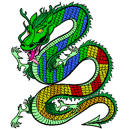 Dessin a colorier de dragon - Dessin dragon couleur ...