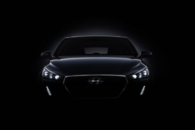 The 2017 Hyundai i30 teaser images of Paris