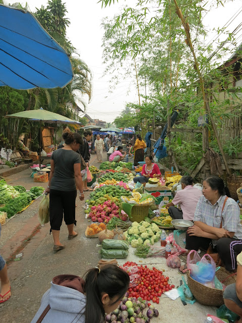 Fresh produce vendors at the day market.