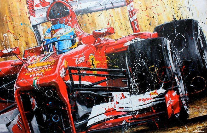 Фернандо Алонсо Ferrari 2013 - рисунок Art Rotondo
