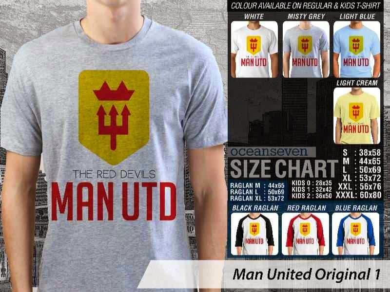 KAOS MU Man Utd Manchester United 34 Logo Klub Bola distro ocean seven